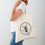 cotton canvas tote bag book