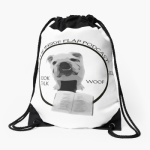 book Drawstring bag