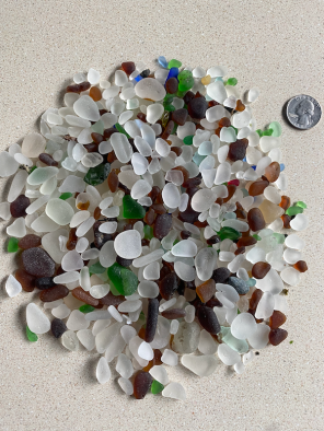 Sea glass scavenged from Port Townsend, WA